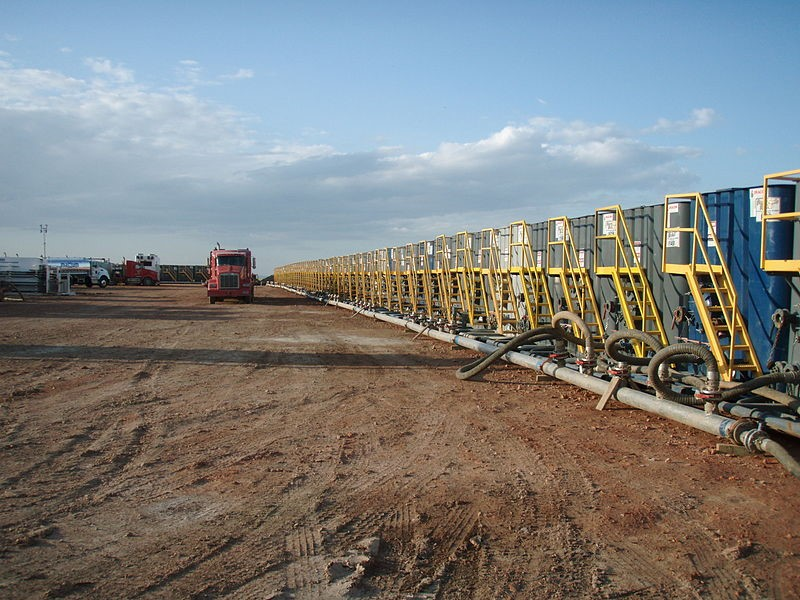 Fracking water pumps